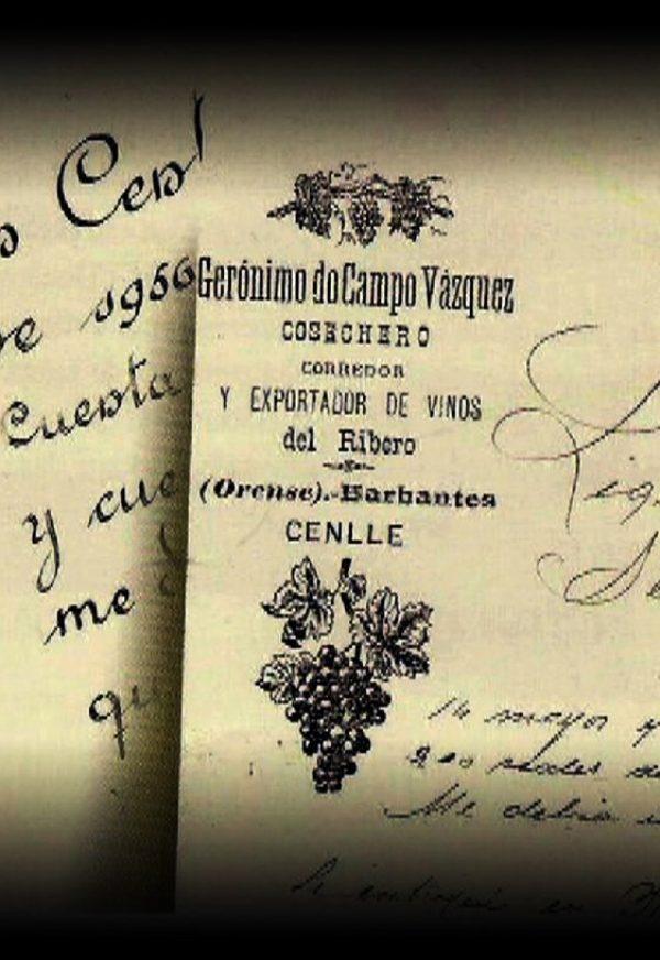 Documentos sede bodega en Cenlle 1923